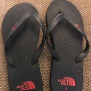 The North Face Black Flip Flops Size 8